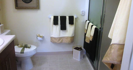 Bathroom darker colors Salishan Gracious Retirement Living