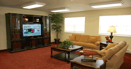 television lounge at Southern Pines Retirement community