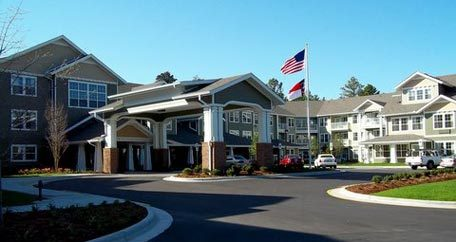 Exterior view Southern Pines Gracious Retirement Living