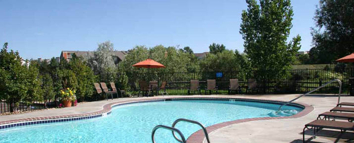 Pool at Silverbrook Apartments in Aurora, CO