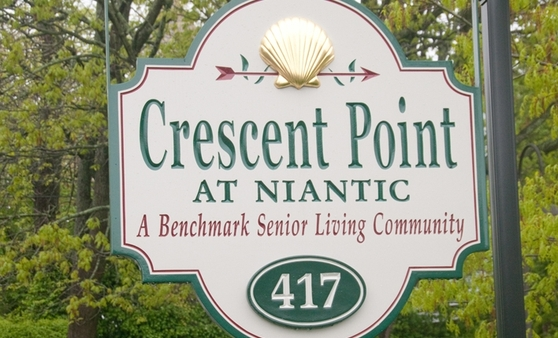 Sign Crescent Point at Niantic
