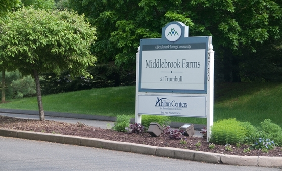 Sign Middlebrook Farms at Trumbull