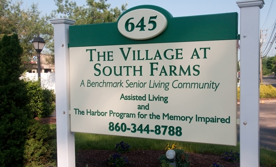 Sign The Village at South Farms