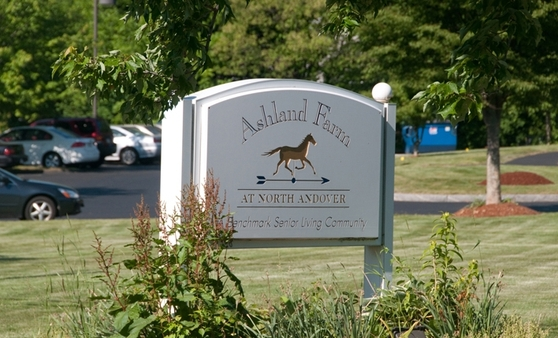 Sign Ashland Farm at North Andover
