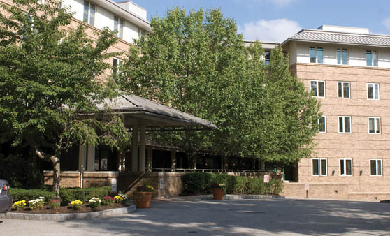 Exterior of a Senior living community in Newton, MA
