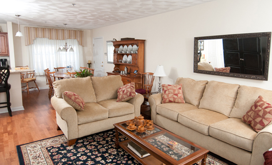 Senior living apartment at The Village at Willow Crossings in Mansfield, MA