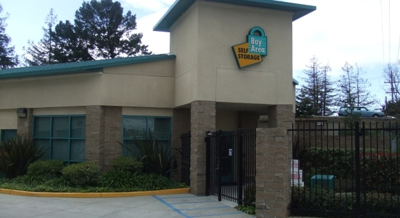 Redwood city facility front Bay Area Self Storage