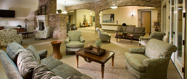 Lobby for senior living