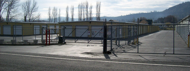 Gated security at The Dalles Storage in Oregon
