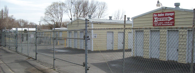 Exterior rental units at The Dalles Storage
