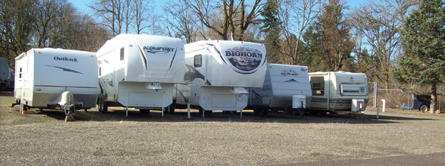 Rv parking available at Scappoose Secure Storage