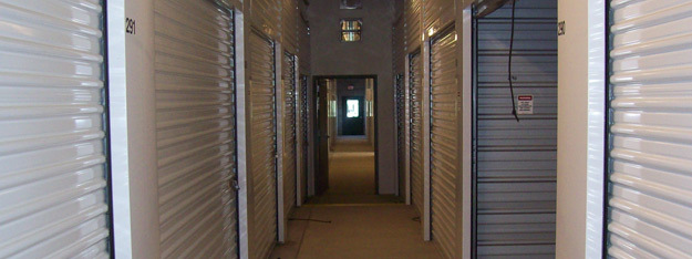 Interior hallway units at Scappoose Secure Storage