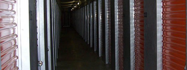 Interior hallway units at Freeway Self Storage in Tacoma Washington