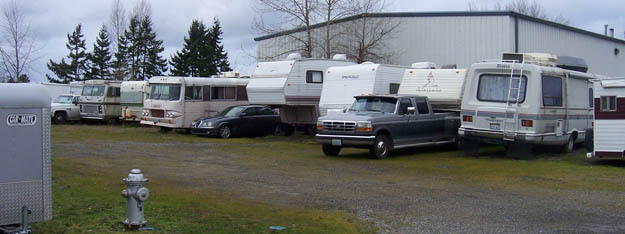 Lots of rv parking at Freeway Self Storage in Tacoma Washington