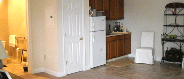 Assisted living one bedroom with kitchen at Woodbury Mews