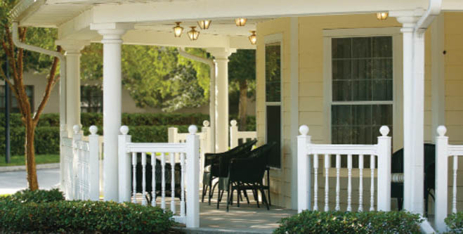 The front porch in Lake Mary assisted living