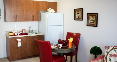 Kitchenette resized Meadowlark Estates Gracious Retirement Living