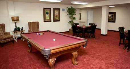 Pool table resized Meadowlark Estates Gracious Retirement Living