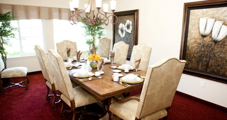 Private dining room resized Meadowlark Estates Gracious Retirement Living