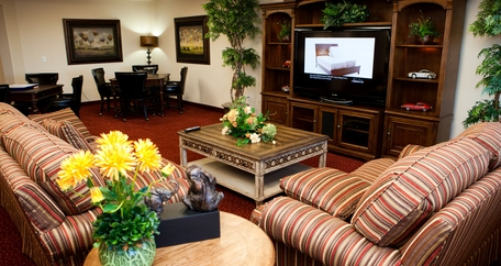 Tv room resized Meadowlark Estates Gracious Retirement Living