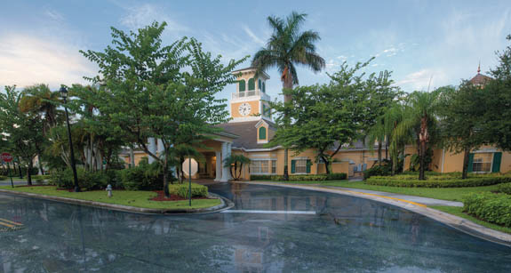 The clubhouse at Parkland FL assisted living community