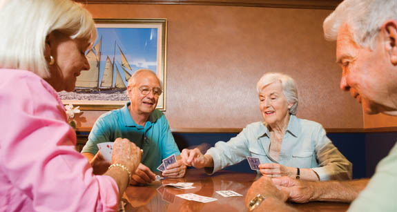 Residents of Parkland, FL independent senior living community gambling