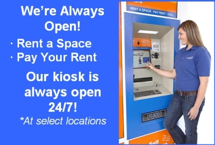 A 1 vista kiosk A1 Self Storage