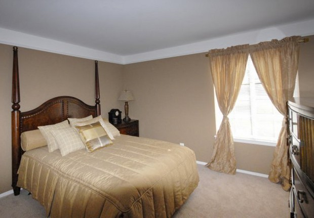 Spacious master bedroom at our Novi Apartment rentals