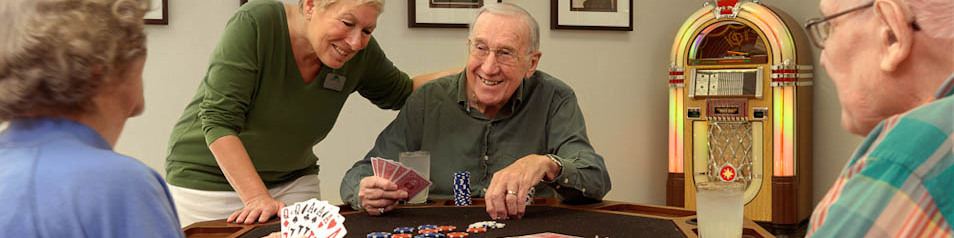 There's always a game going on in our game room at Garden View Care Center of Chesterfield.