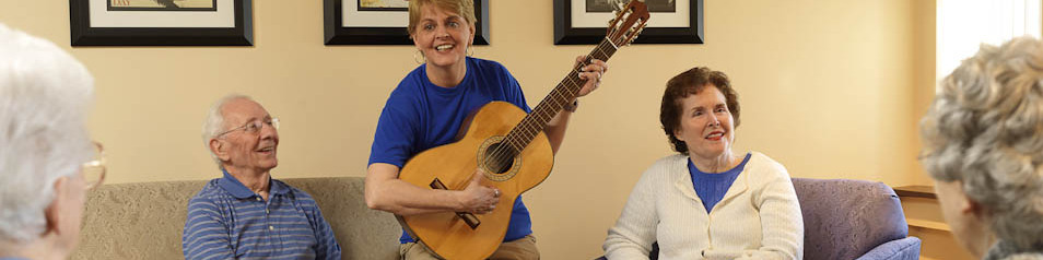 Sing a long with musical guests during great events scheduled at Garden View Care Center of Chesterfield.
