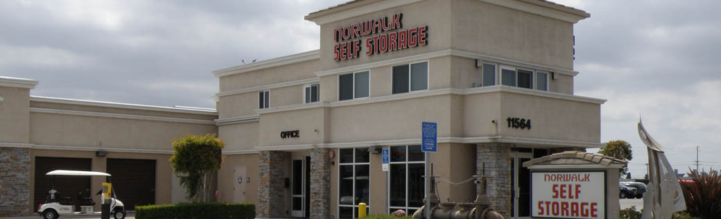 Norwalk mini storage office entrance