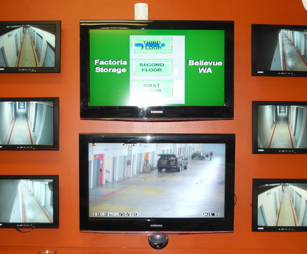 Factoria security self storage monitors wa bellevue