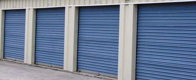 Large exterior units at our Baltimore self storage facility
