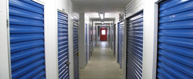 Interior units at our Laurel self storage facility