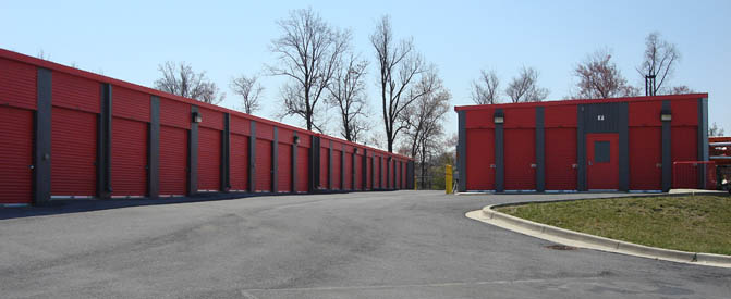Laurel self storage exterior units