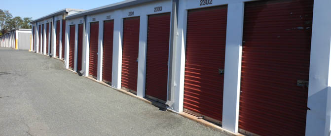 Gude self storage exterior unit doors