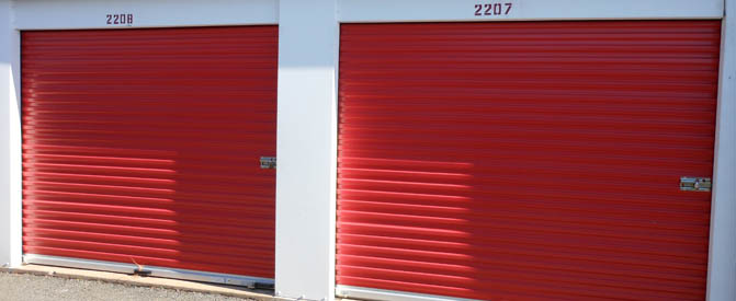 Unit doors at our Rockville self storage facility