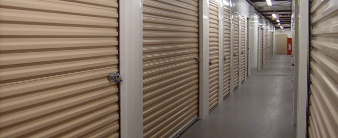 Interior units at our New Market self storage facility