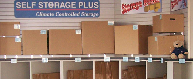 Self storage in Manassas, VA wide selection of boxes