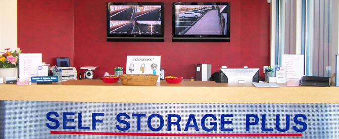 Manassas self storage office interior