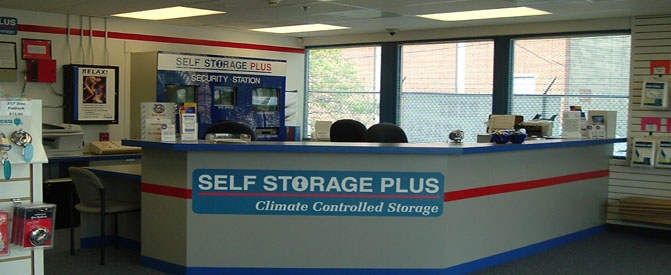 Office interior Self Storage Plus