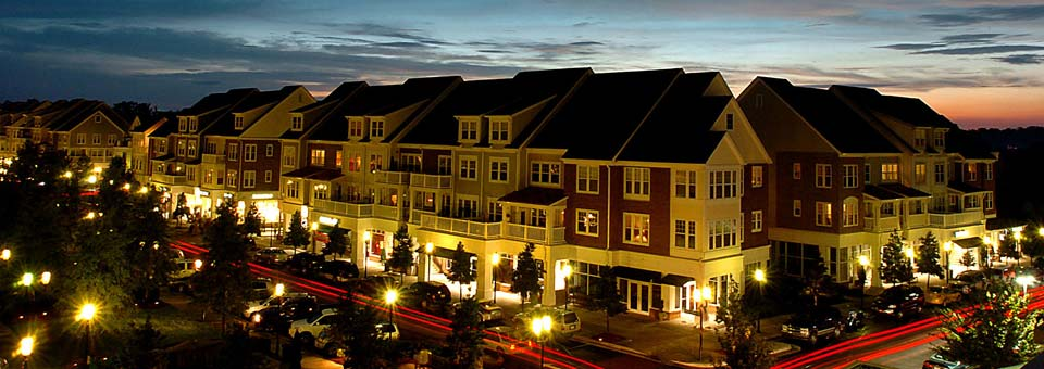Community buzzing with life after dark The Apartments at Birkdale Village