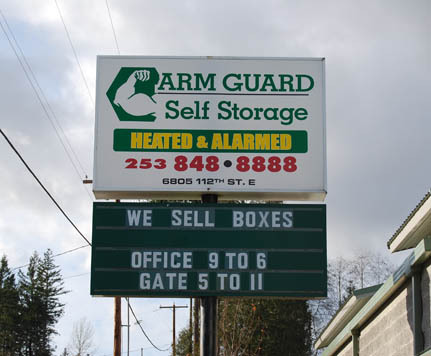 Puyallup sign ARM GUARD SELF STORAGE