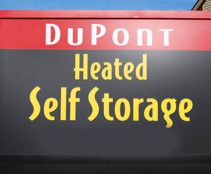 Sign DUPONT HEATED SELF STORAGE