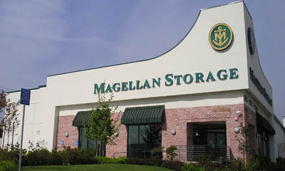 Office building exterior at Magellan Storage in Torrance California