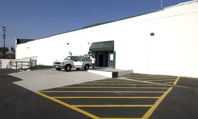 Property exterior and loading dock at the Magellan Storage in Torrance