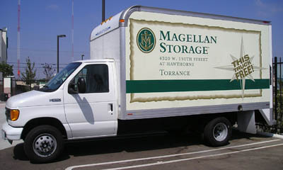 Free use of our moving truck at the Torrance Magellan Storage