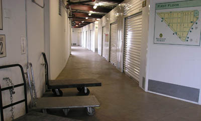 Use of carts and dollies at Magellan Storage in Torrance