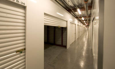 Interior storage units at the Magellan Storage near Newport Beach CA
