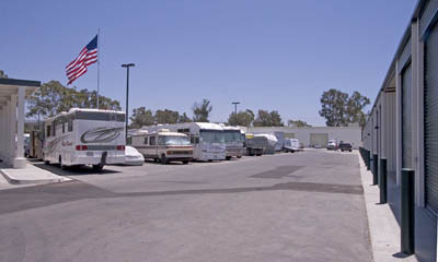 Rv and trailer storage at Magellan Storage - Costa Mesa California